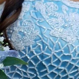 Sherri hill Cinderella blue princess prom dress